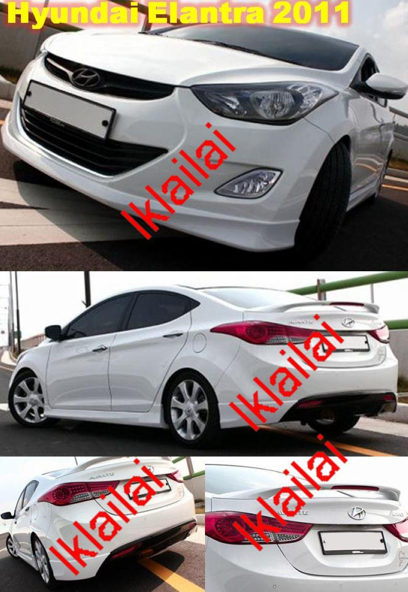 Hyundai Elantra 2011 Full Set Body Kit PPU +Painted