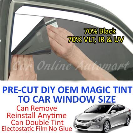 Hyundai Elantra Magic Tinted Solar Window ( 4 Windows ) 70% Black