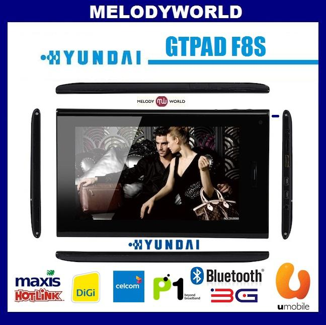 Hyundai GTPad F8s CALL SMS CAPACTIVE 1.5Ghz 3G PHONE TABLET