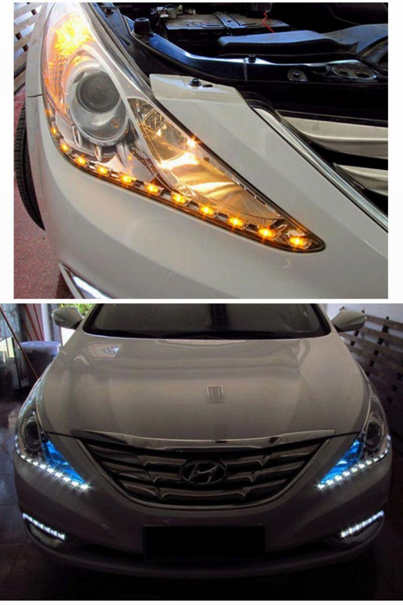 Hyundai Sonata `10-13 Head Lamp Add-on + Angel Eye + DRL 2-function