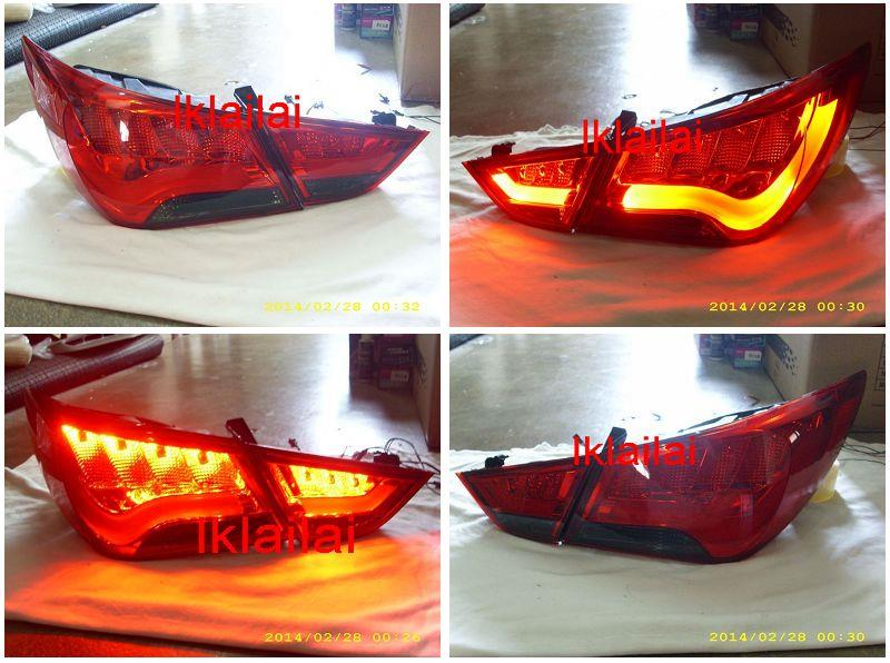 HYUNDAI SONATA '11-13 LED LIGHT BAR TAIL LAMP Red-Smoke
