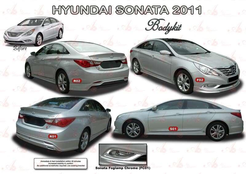 HYUNDAI SONATA 2011 BODYKIT WITH PAINTING