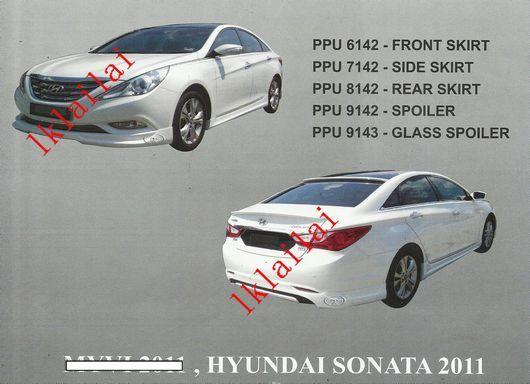Hyundai Sonata 2011 Full Set Bodykit PU Material with Paint