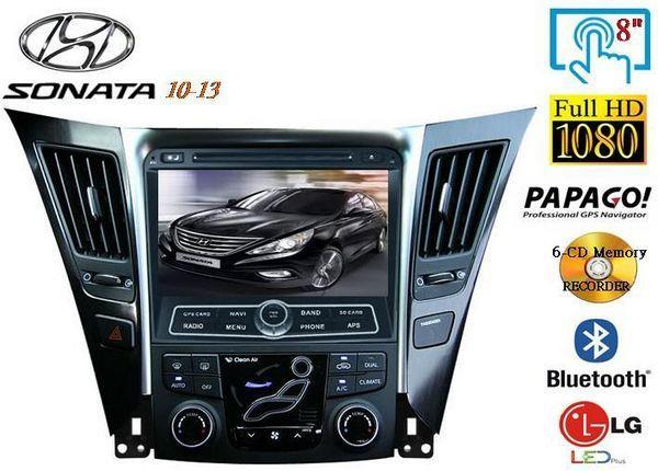 "HYUNDAI SONATA YF i45 2010-14 DLAA 8"" Double Din GPS DVD MP3 TV Player"