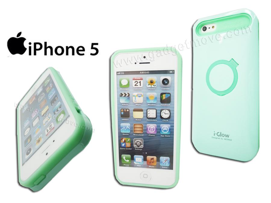 i-Glow Apple IPhone 5S SE Standable Anti Shock Night Glow Back Cover
