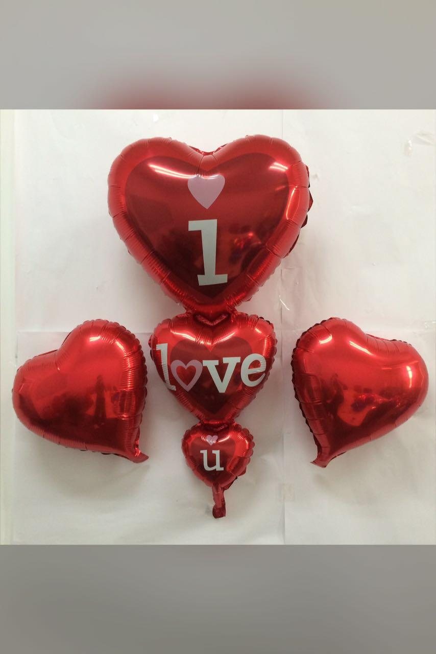 I LOVE YOU linked foil balloons valentine balloon