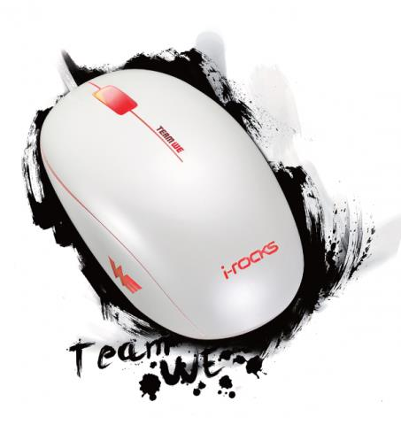I-ROCKS PEARL GAMING MOUSE IM3-WE