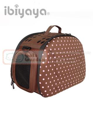 ibiyaya Classic Collapsible Shoulder Carrier - Brown Polka Dot