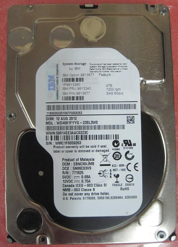 NEW IBM 4TB 7200 RPM 3.5' SAS Desktop PC Server HDD Harddisk
