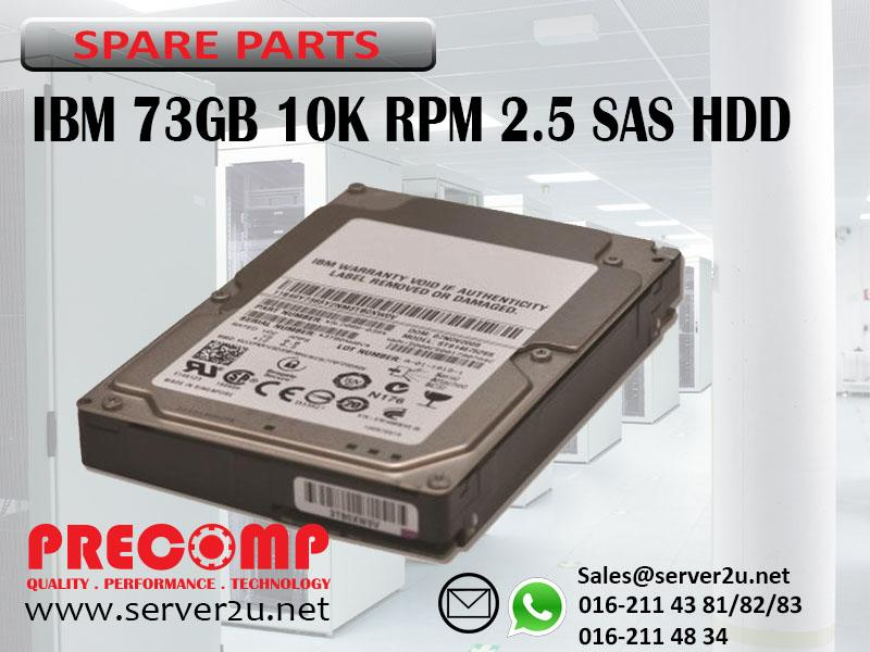 IBM 73GB 10K RPM 2.5 Inch SAS HDD