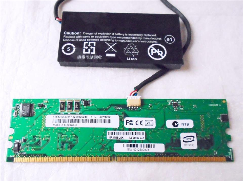 IBM ServeRAID MR10K 43W4282 SAS/SATA Controller + Battery Pack 43W4283