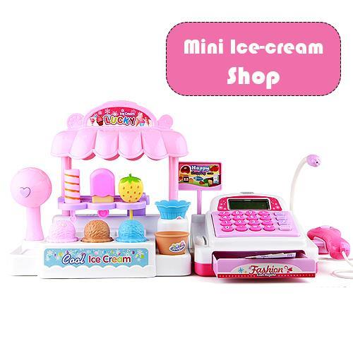 ICE CREAM STORE CASH REGISTER WITH FLASHING LIGHTS & SOUND EFFECTS