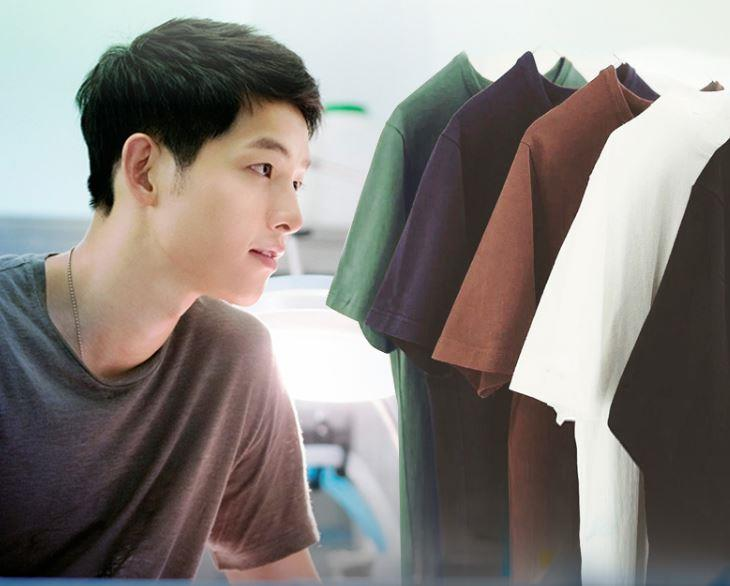 ID1004 Song Joong Ki Good Quality Korean Styles Men T-shirt