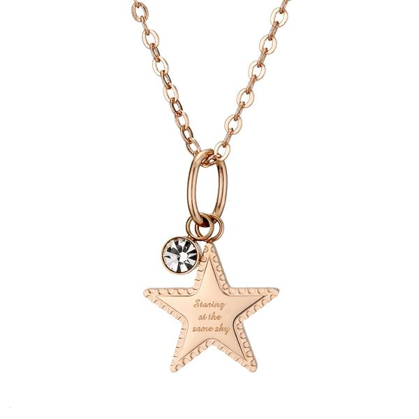 IDEA ROCK Star Pendant Necklace (rose gold/female)