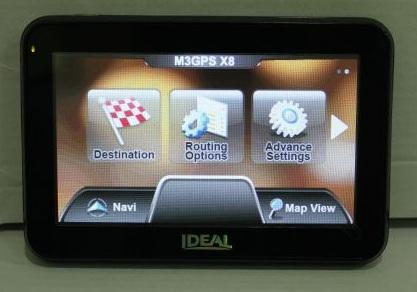 Ideal 4.3' X420 GPS (AtlasV,128MB,HD) Bundle ORI M3GPS(PapagoX8.5)