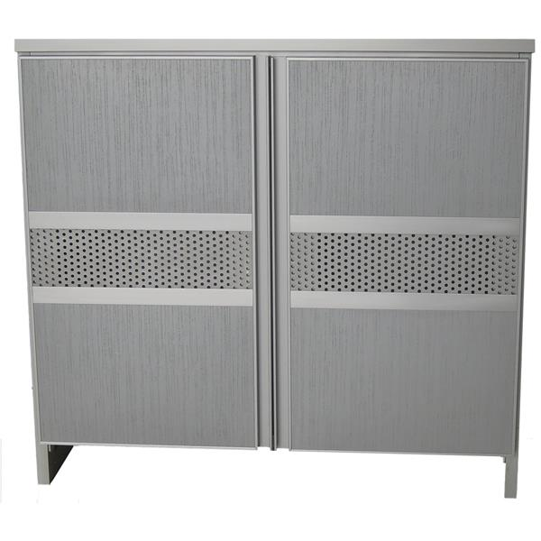 Ideal Aluminium Shoe Cabinet SC777233 Silver
