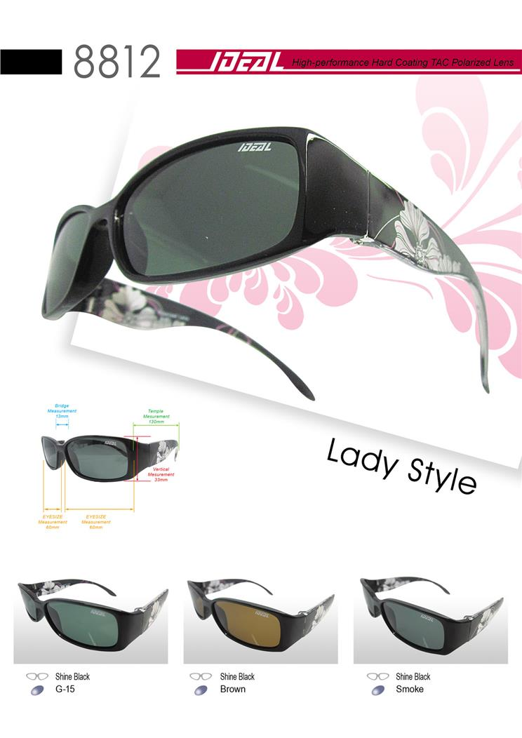 IDEAL - Ladies Style Polarized Sunglasses in Flowers - Model 8812