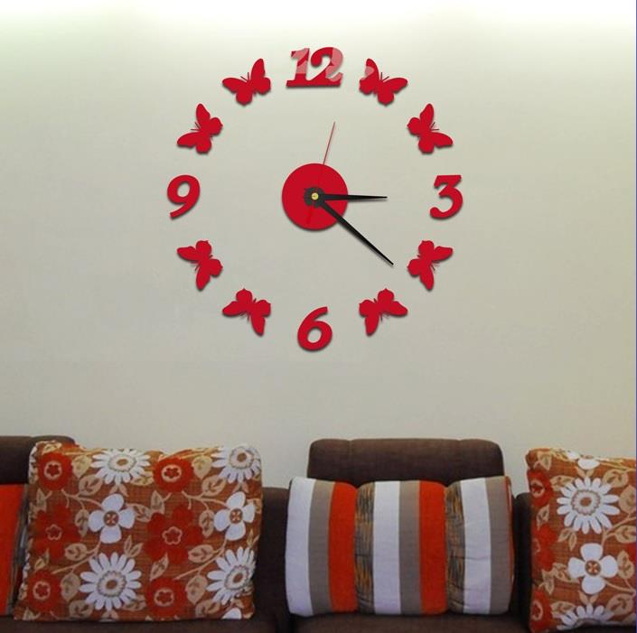 IDECO DIY Mirror Wall Clock #7