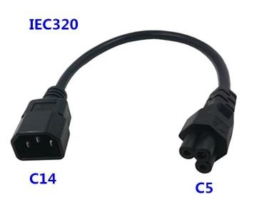 IEC-320 AC Power Cord with C14 to C5