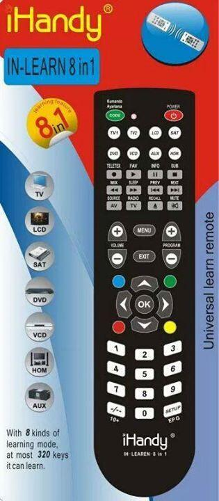 iHandy 8 In 1 Universal Learning Remote Control