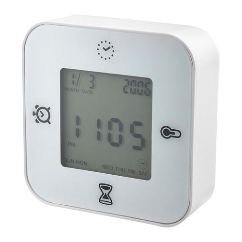 IKEA - Digital Alarm Clock with Thermoter & Timer (White)