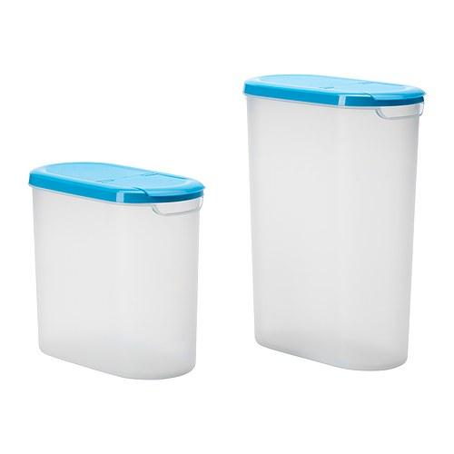 IKEA Jämka Dry Food Jar with Lid Set of 2 (2.5L and 3.5L Container)