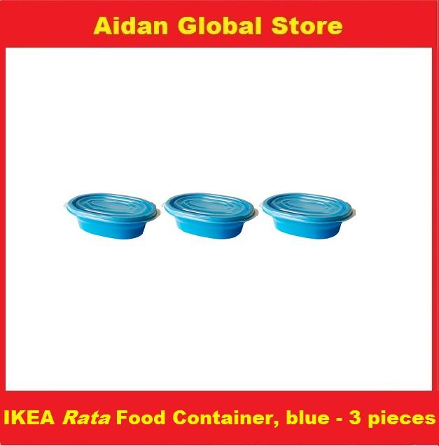 Ikea rata food container blue set of 3 pieces end 3 17 for 3 pieces cuisine