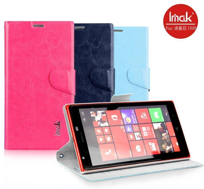 Imak Nokia Lumia 1520 Flip Stand Leather Case Cover Casing + Free Gift