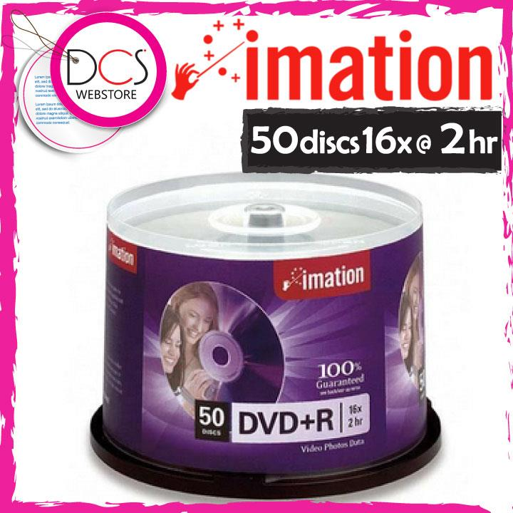 Imation DVD+R 50 discs Spindle 4.7GB 16X Speed 2 hr 100% Guaranteed
