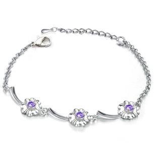 Imitate-diamond Clover Bracelet 14042