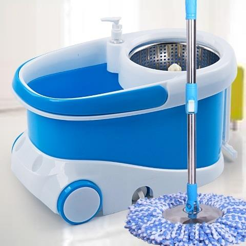 Improved Spin Mop w Bigger, Durable, Practical Design & Extra Mop Head