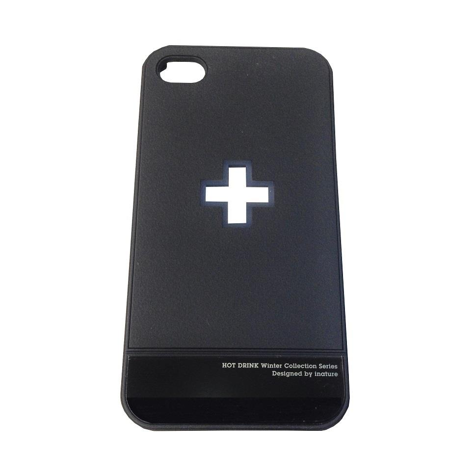 INATURE Apple iPhone 4/4s Black Plastic Case/Cover - 2pcs