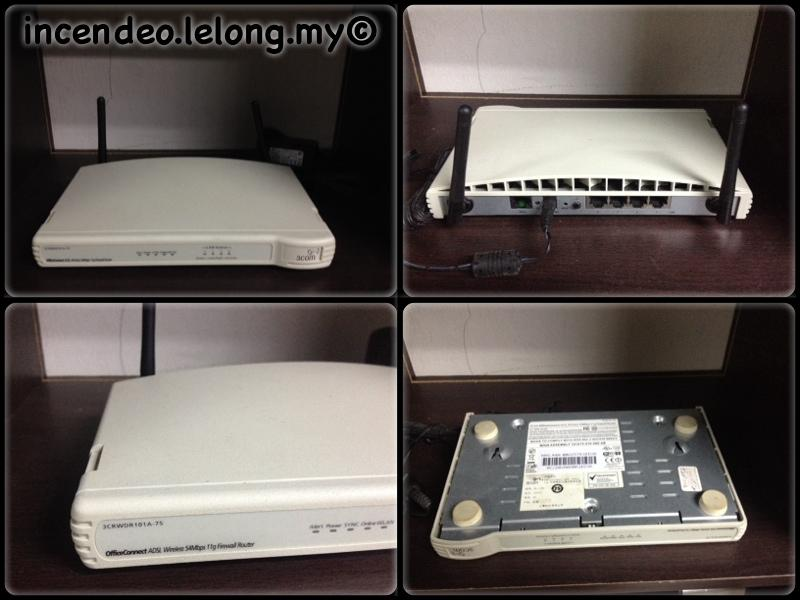 **Incendeo** - 3COM OfficeConnect ADSL Wireless Router 3CRWDR101A-75