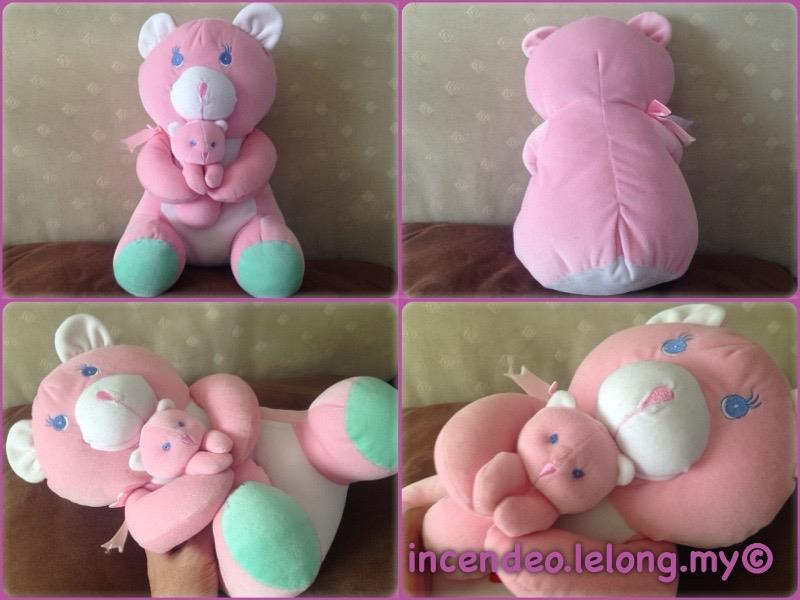 **incendeo** - Adorable Pink Bear and Baby Soft Toy