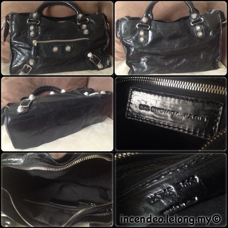**incendeo** - Authentic BALENCIAGA Giant City Black Leather Bag