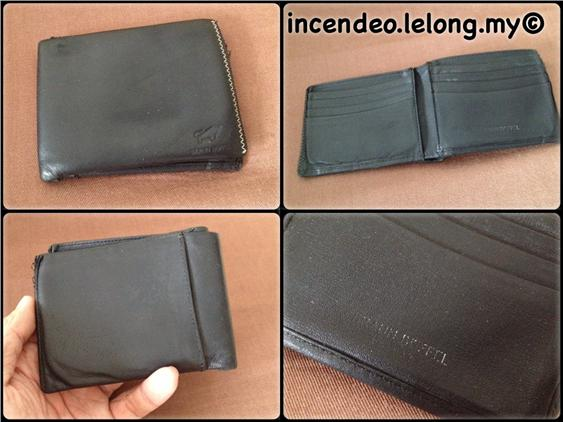 **Incendeo** - Authentic BRAUN BUFFEL Black Leather Wallet
