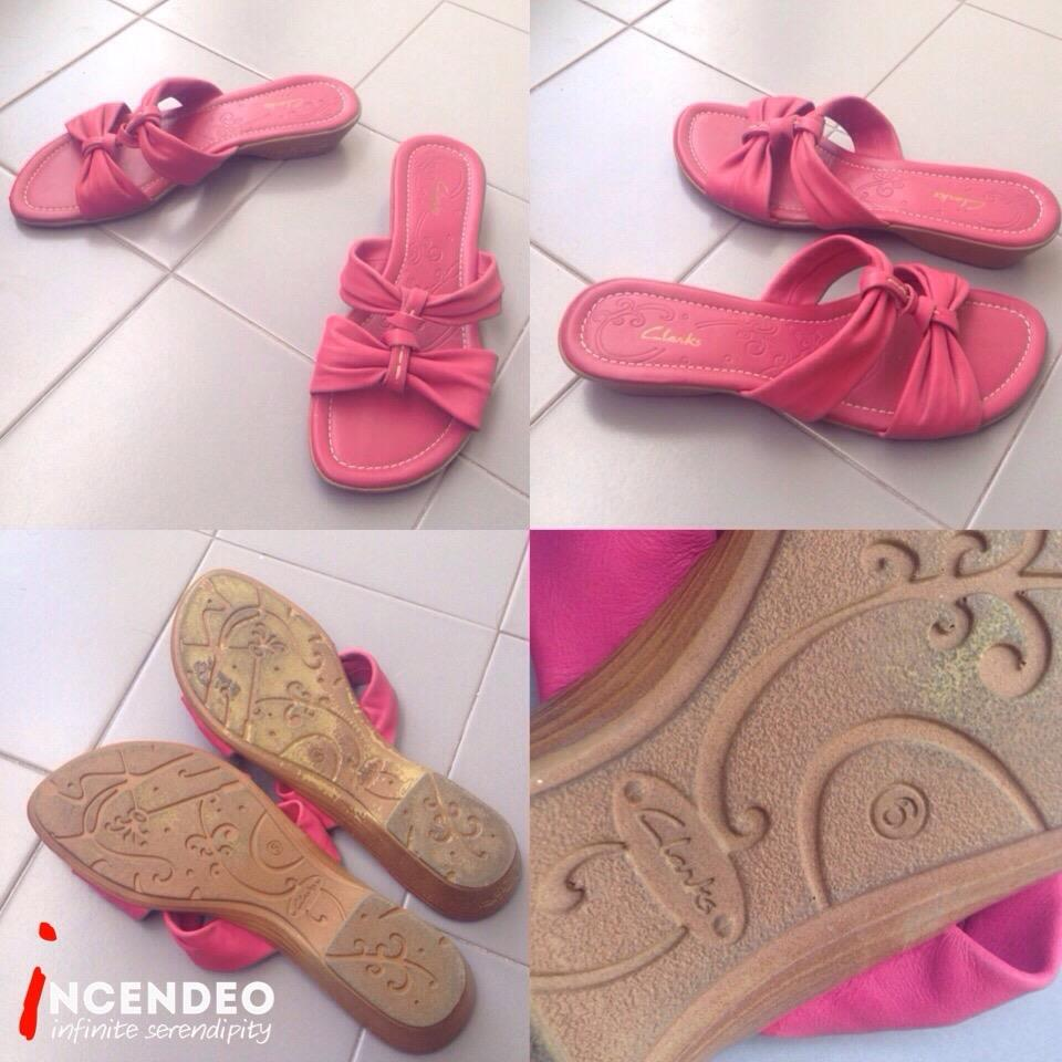 **incendeo** - Authentic CLARKS Pink Slipper for Ladies