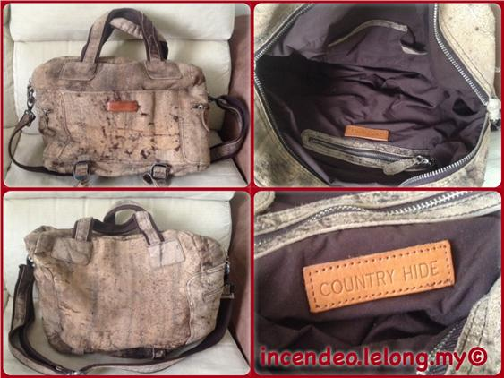 **Incendeo** - Authentic COUNTRY HIDE Large Leahter Bag