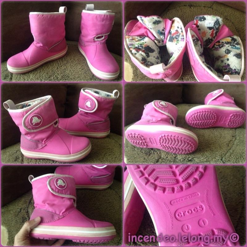 **incendeo** - Authentic CROCS Junior Pink Boot J1
