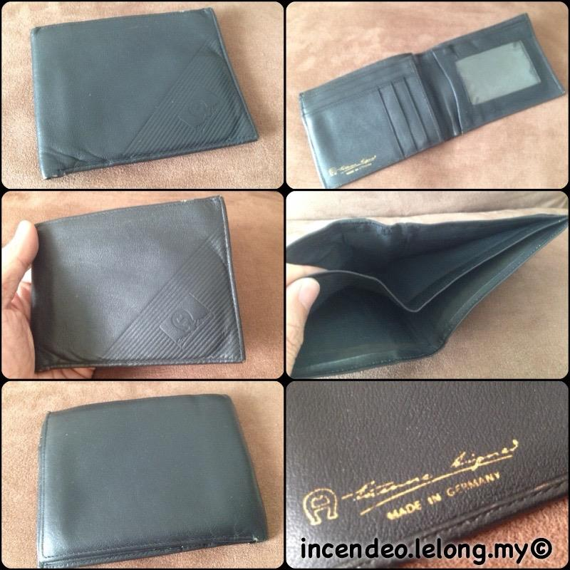 **incendeo** - Authentic ETIENNE AIGNER Germany Black Leather Wallet