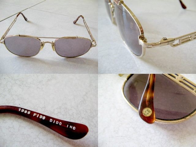 **Incendeo** - Authentic Fido Dido 1985 18K Gold Plated Sunglasses