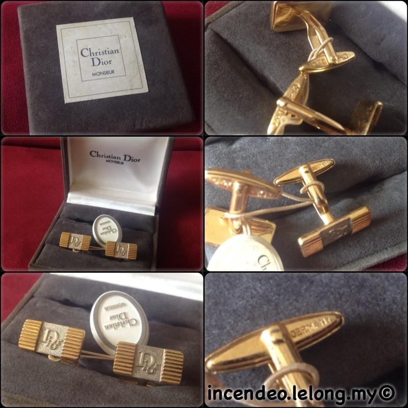 **incendeo** - Authentic Vintage Christian Dior Monsieur Cufflinks