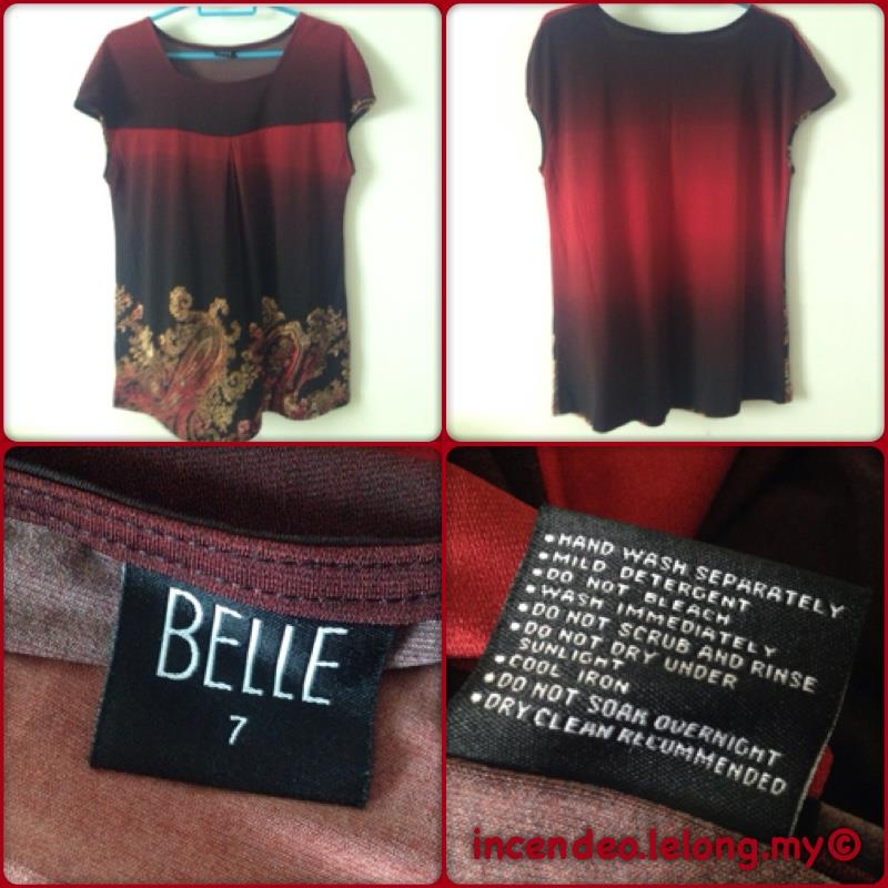 **incendeo** - BELLE Red Top for Ladies