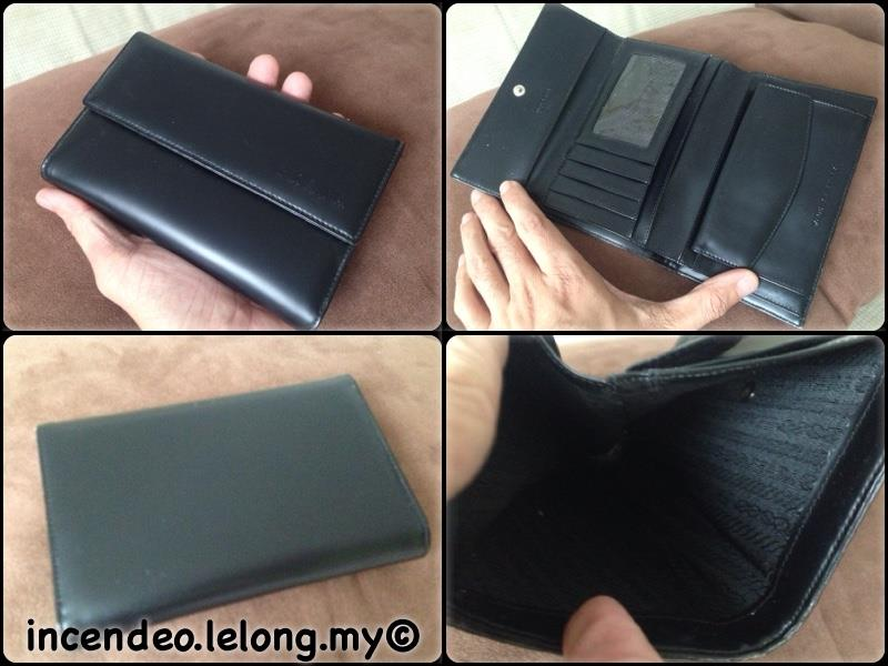 **incendeo** - Black Tri-fold Purse for Ladies