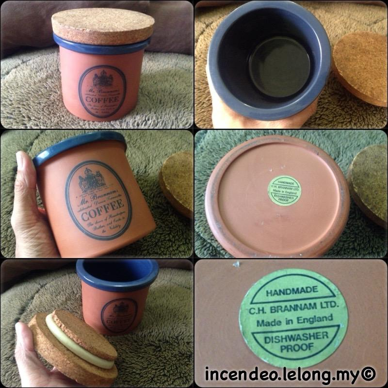 **incendeo** - BRANNAM's England Terracotta Handmade Coffee Canister