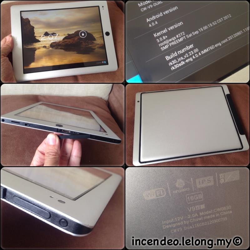 """**incendeo** - CHUWI V9 9.7"""" IPS Display WiFi Android Dual Core Tablet"""
