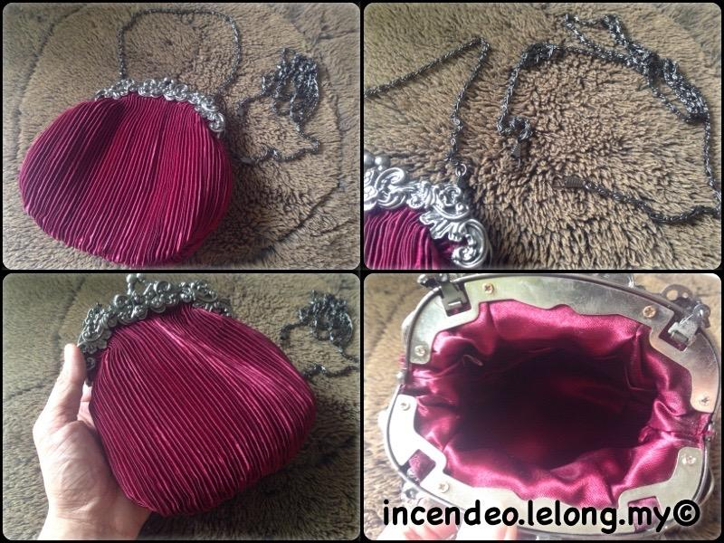 **incendeo** - Classic Maroon Dinner Bag for Ladies