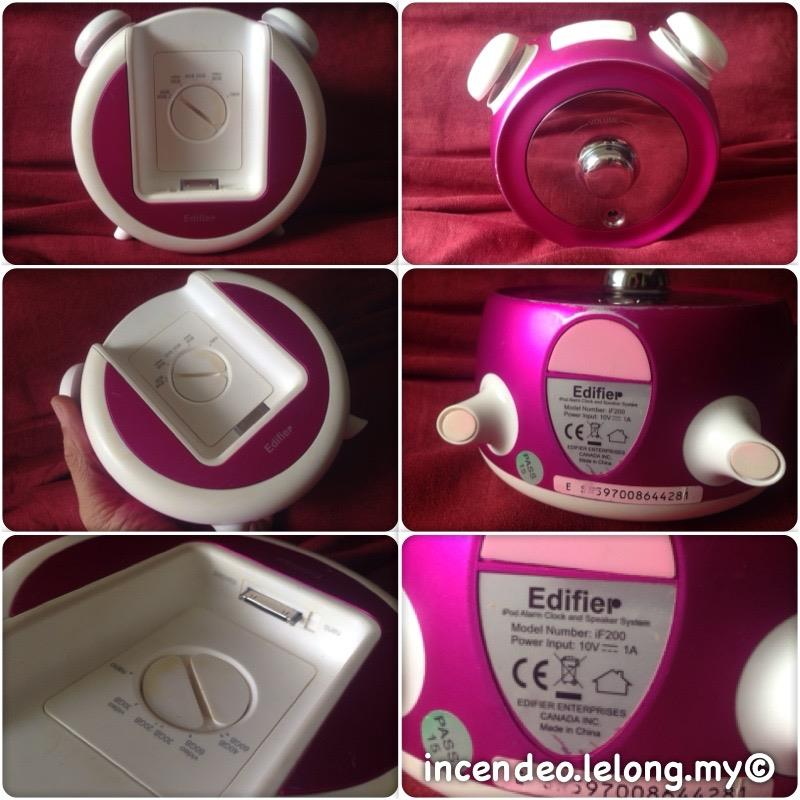 **incendeo** - Edifier Pink iPod Alarm Clock Dock Speaker