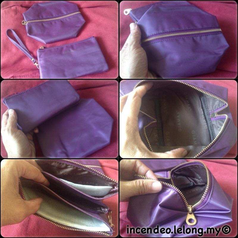 **incendeo** - GIAMAX Tri-Zip Purse and Cosmetic Bag