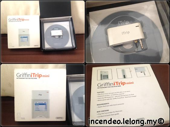 **Incendeo** - Griffin iTrip FM Transmitter for Apple iPod Mini